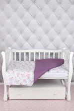 """фото комплекта в кроватку 3 предмета AmaroBaby BABY BOOM в цвете """"Балерины/белый"""""""