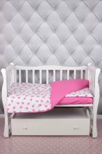 """фото комплекта в кроватку 3 предмета AmaroBaby BABY BOOM в цвете """"Мороженки/розовый"""""""