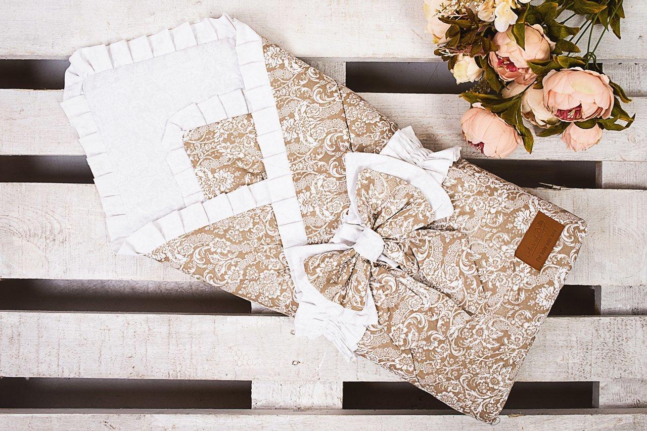 фото одеяла на выписку AmaroBaby ЭЛИТ в цвете Кофе