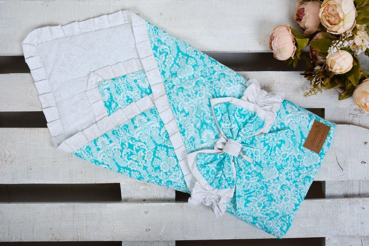 фото одеяла на выписку AmaroBaby ЭЛИТ в цвете Мята