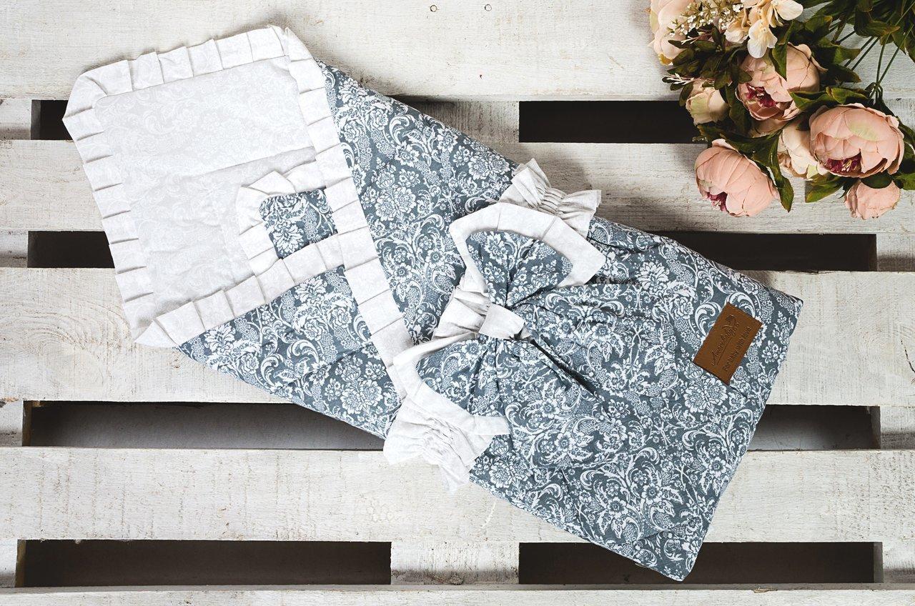 фото одеяла на выписку AmaroBaby ЭЛИТ в цвете Серый