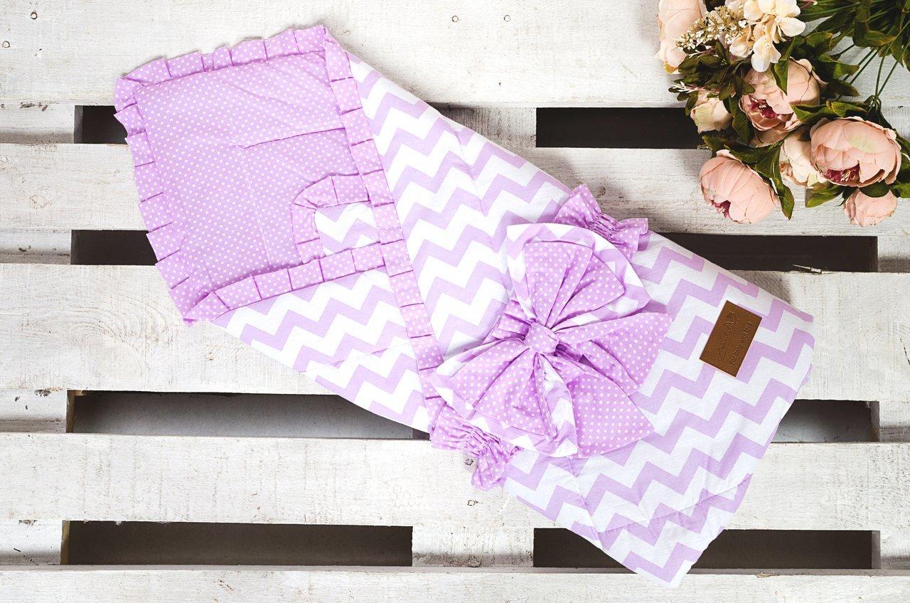 фото одеяла на выписку AmaroBaby Zig Zag в цвете Розовый