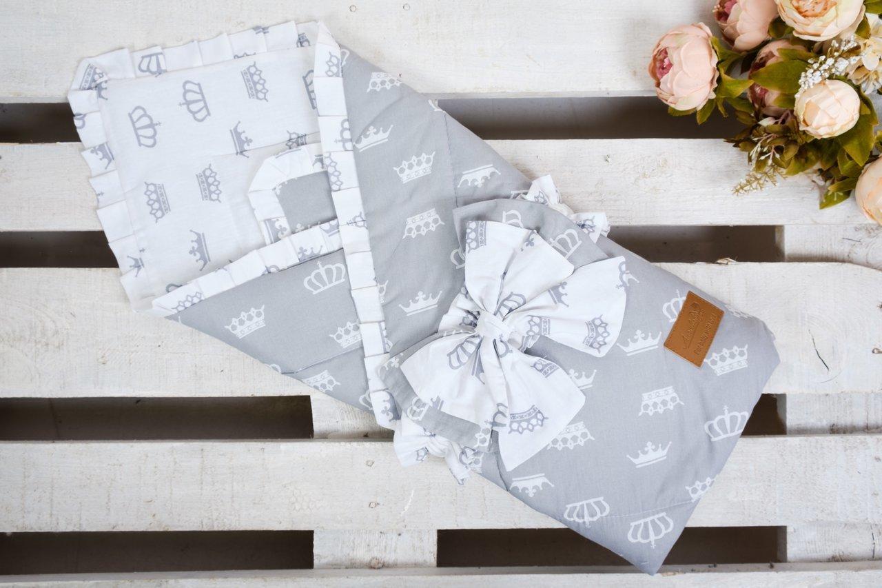 фото одеяла на выписку AmaroBaby HAPPY в цвете Серый