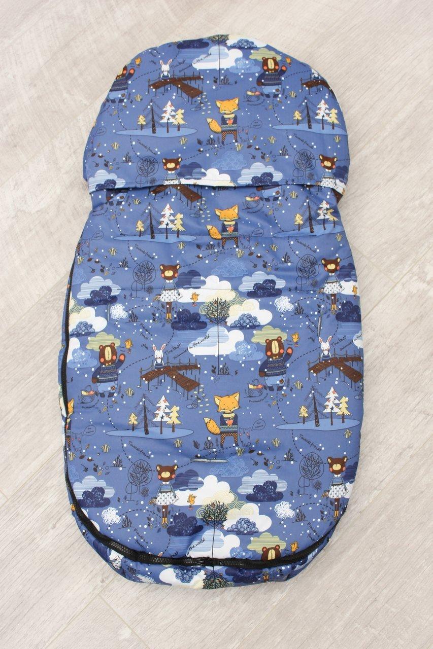 фото мехового конверта AmaroBaby LITTLE FRIEND 80х45 Мишка