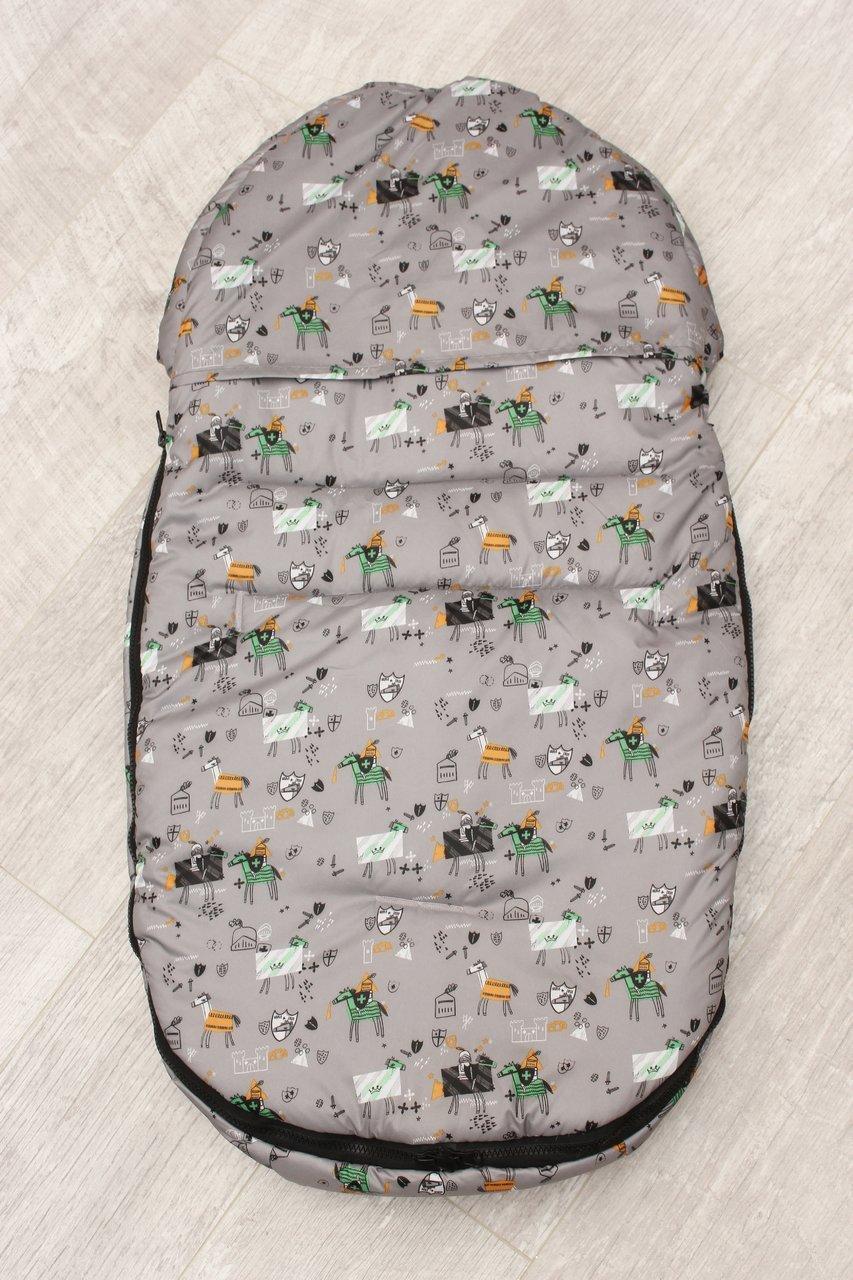 фото мехового конверта AmaroBaby LITTLE FRIEND 80х45 Рыцарь