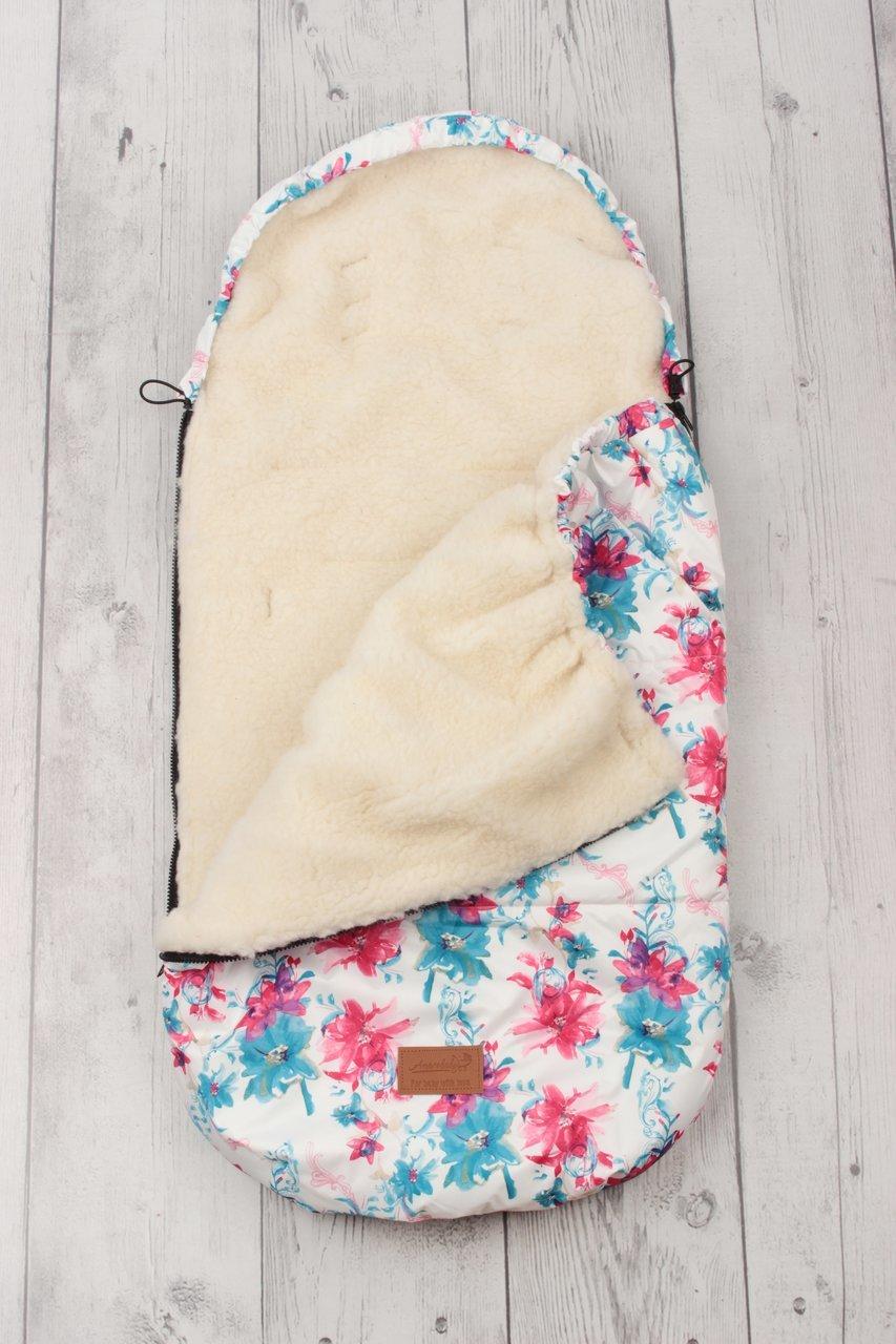 фото универсального конверта AmaroBaby LITTLE TRAVELER 105х45 Цветы