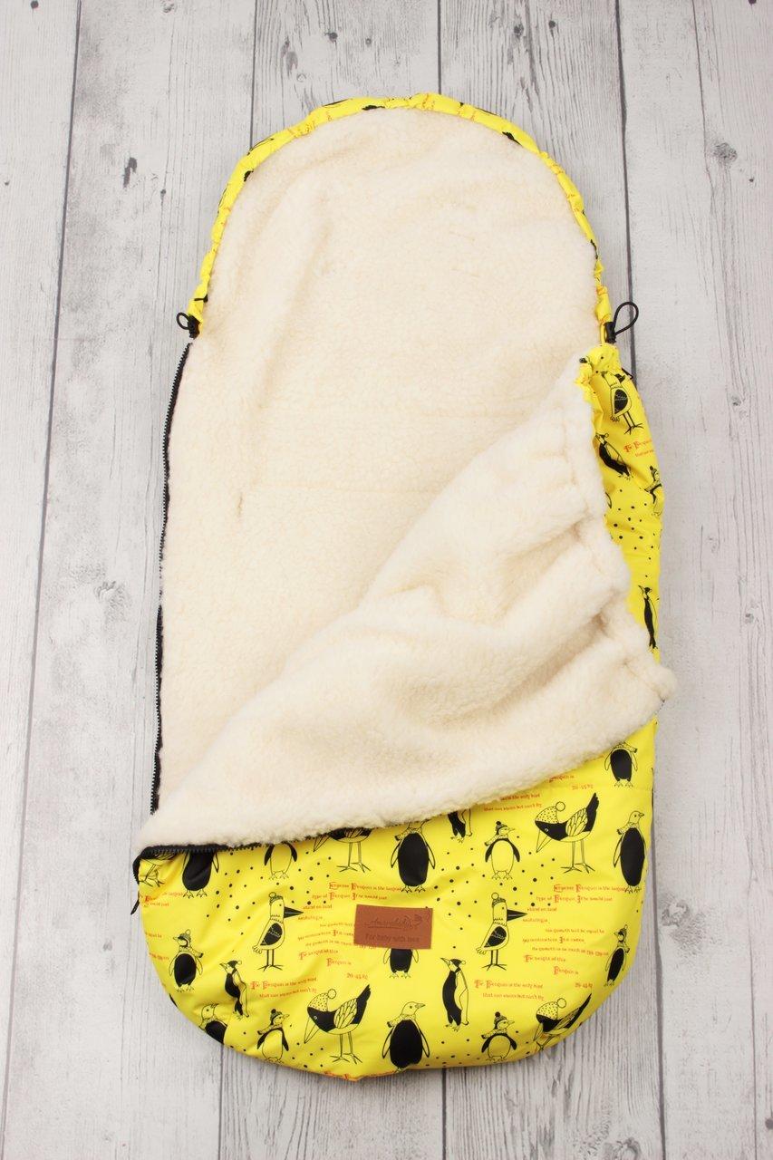 фото универсального конверта AmaroBaby LITTLE TRAVELER 105х45 Пингвины