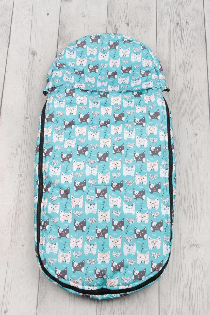 фото мехового конверта AmaroBaby LITTLE TRAVELER 105х45 Собачки (голубой)