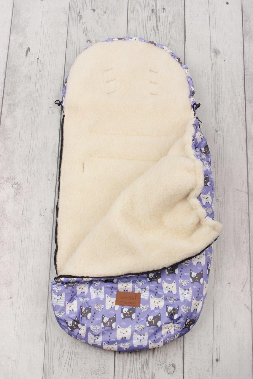 фото универсального конверта AmaroBaby LITTLE TRAVELER 105х45 Собачки (сирень)