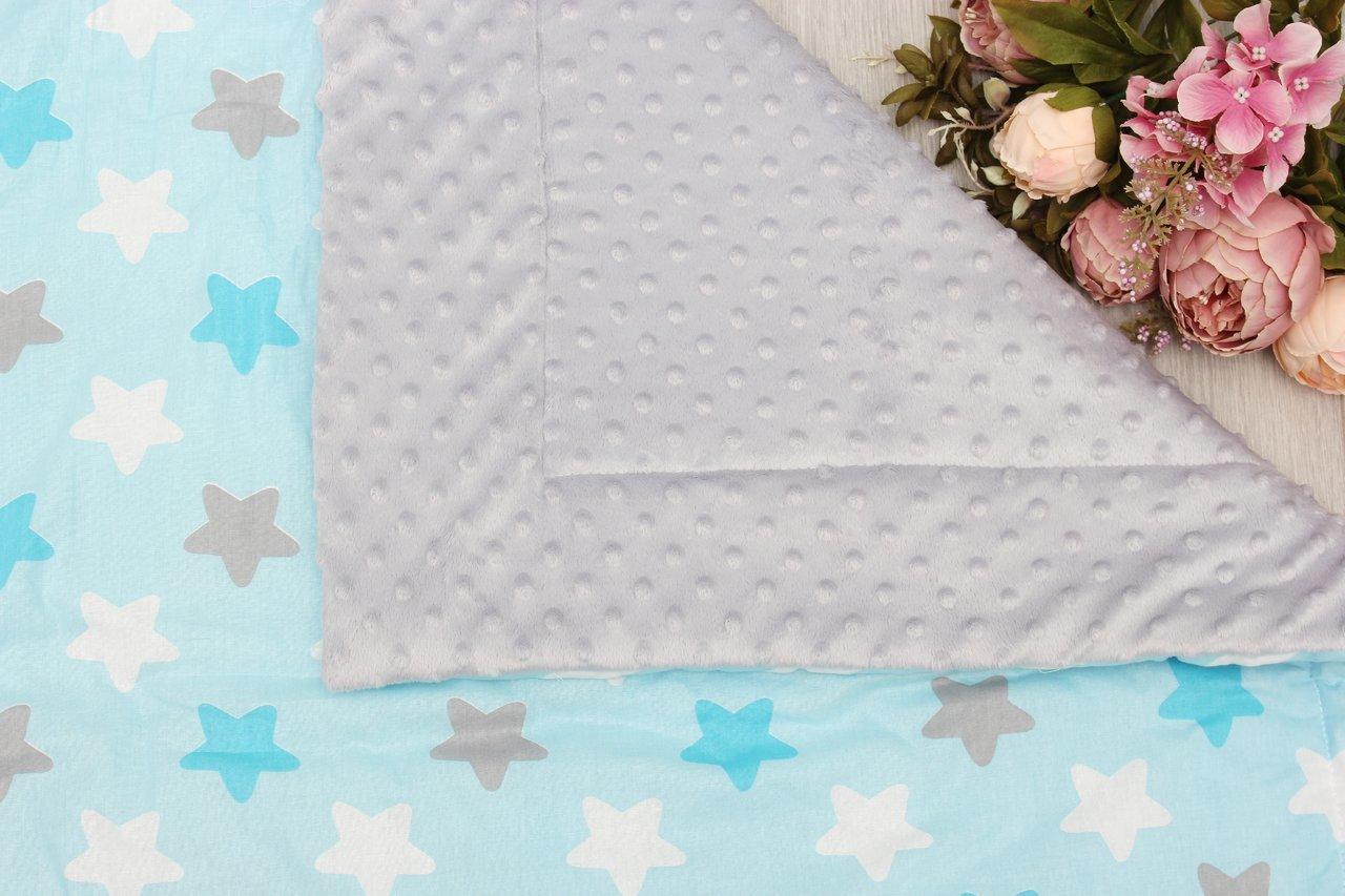 фото пледа AmaroBaby РАСТЕМ ВМЕСТЕ 95х85 хлопок/minky в цвете Небо в звездах