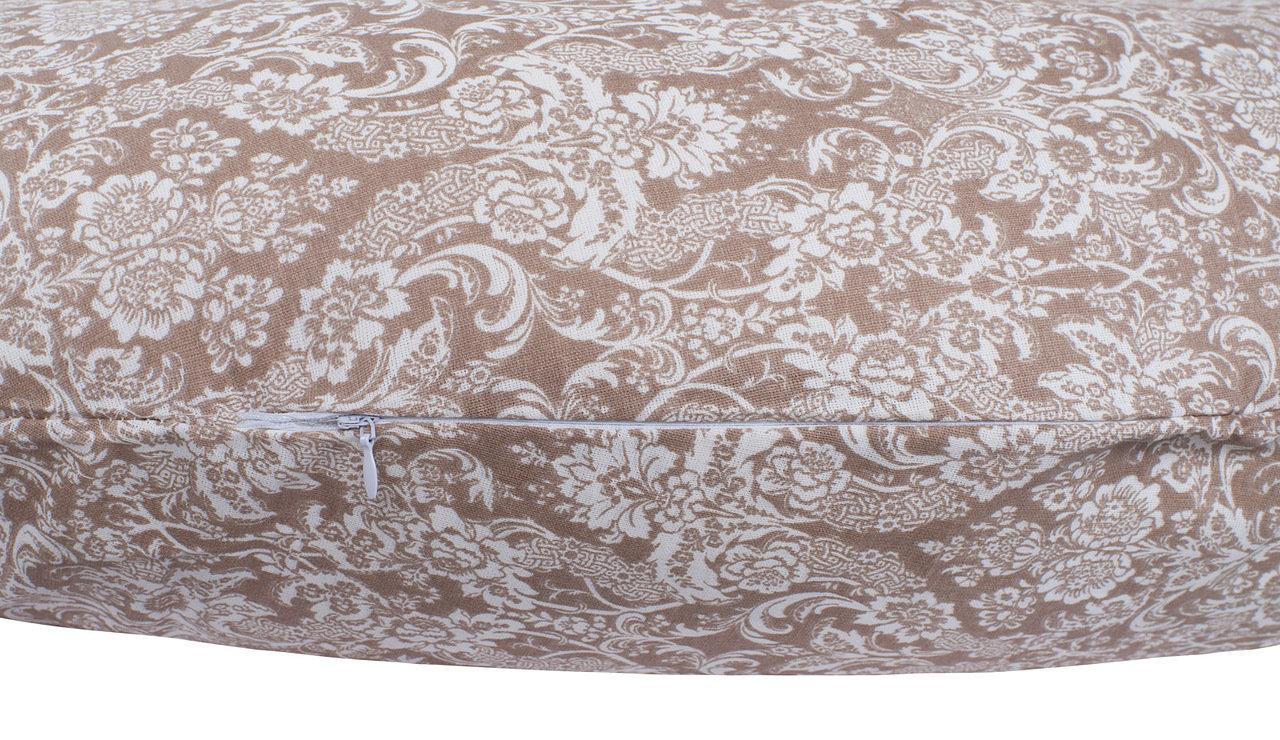 """фото подушки для беременных AmaroBaby 170х25 в цвете """"Дамаск кофе"""""""