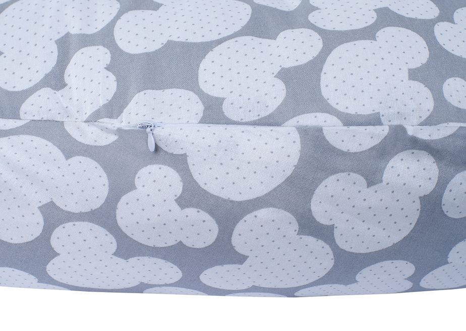 """фото подушки для беременных AmaroBaby 170х25 в цвете """"Мышонок вид серый"""""""