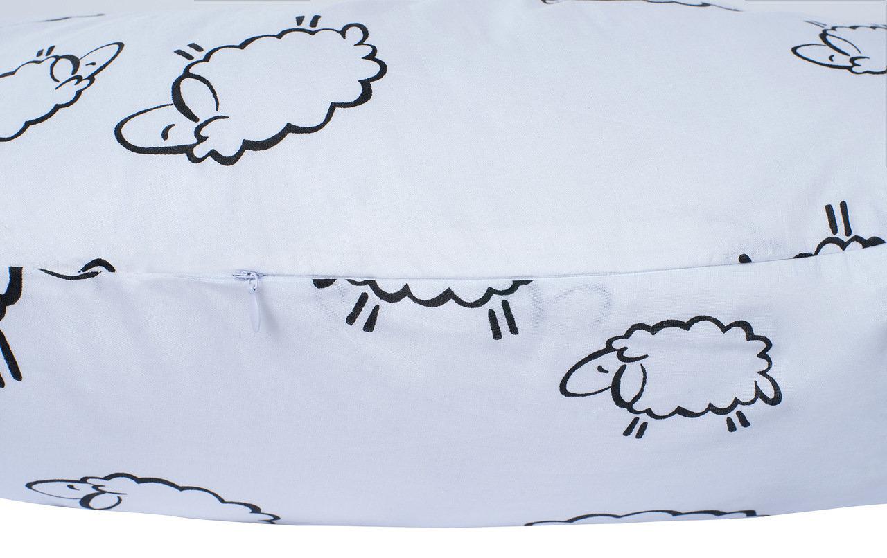 """фото подушки для беременных AmaroBaby 170х25 в цвете """"Овечки"""""""
