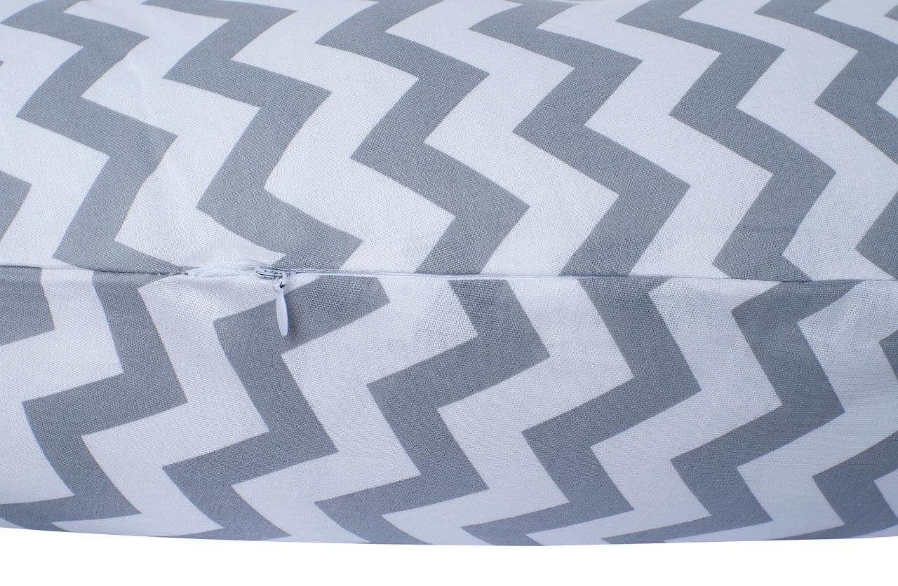 """фото подушки для беременных AmaroBaby 170х25 в цвете """"Зигзаг вид серый"""""""