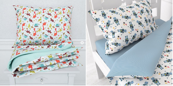 детские подушки в кроватку