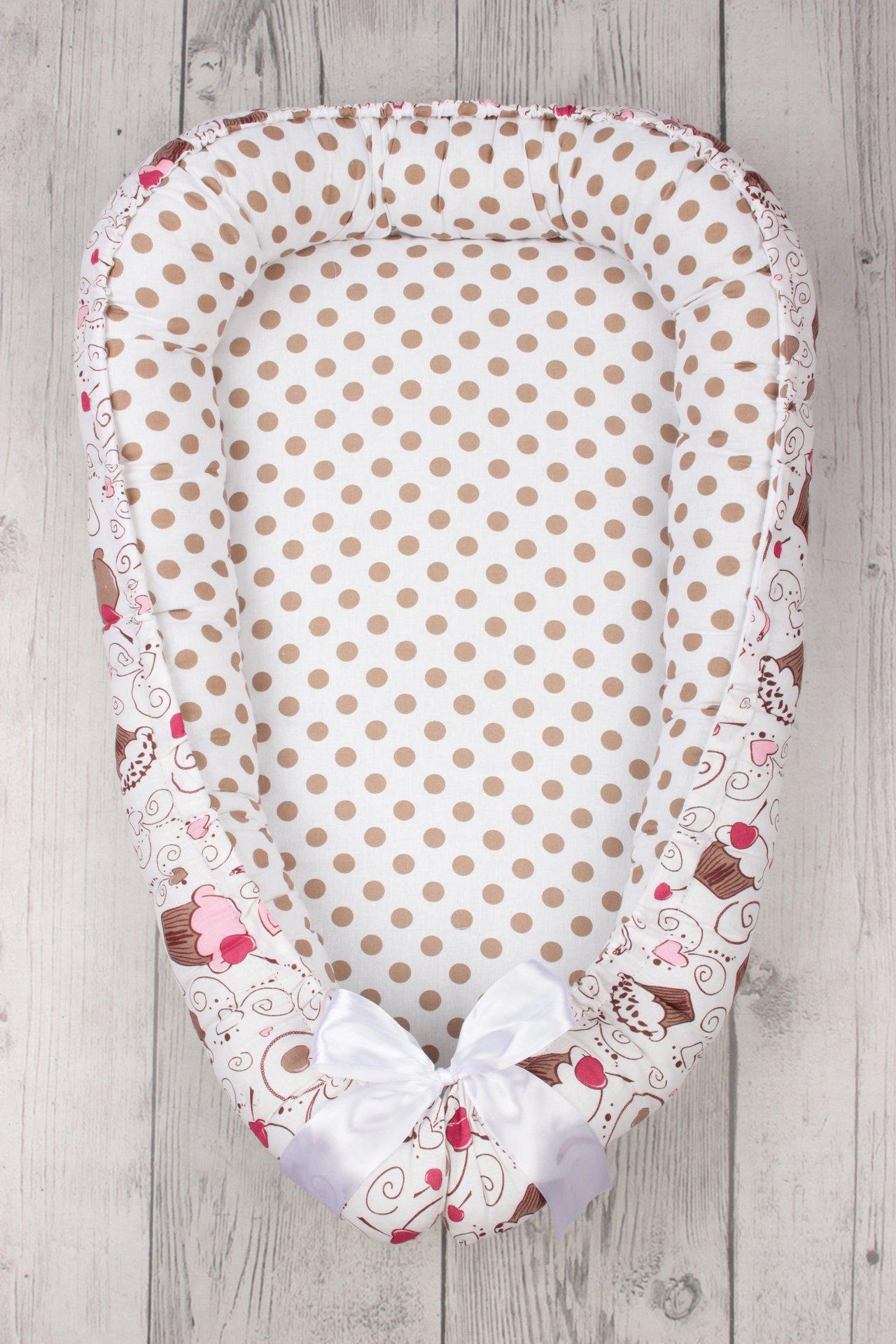 фото подушки-позиционера для сна AmaroBaby кокон-гнездышко, LITTLE BABY в цвете Соня