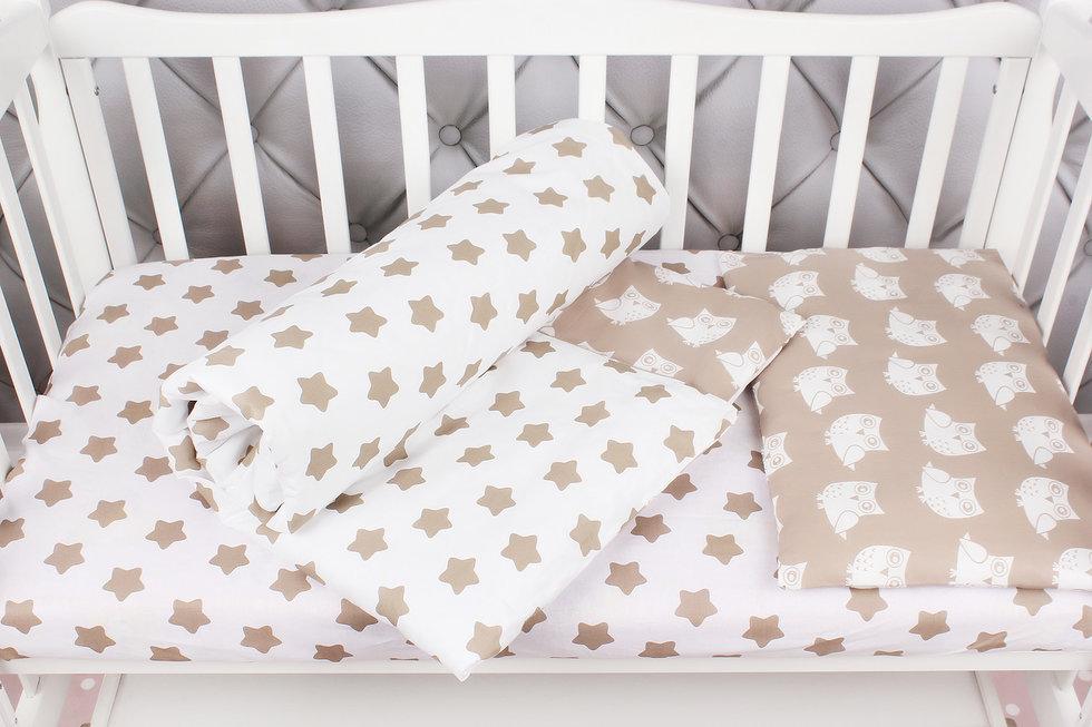 """фото комплекта в кроватку 3 предмета AmaroBaby BABY BOOM в цвете """"Пряники/коричневый"""""""