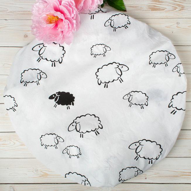 """фото простыни AmaroBaby на резинке круглая 75х75х12 поплин в цвете """"Овечки"""""""