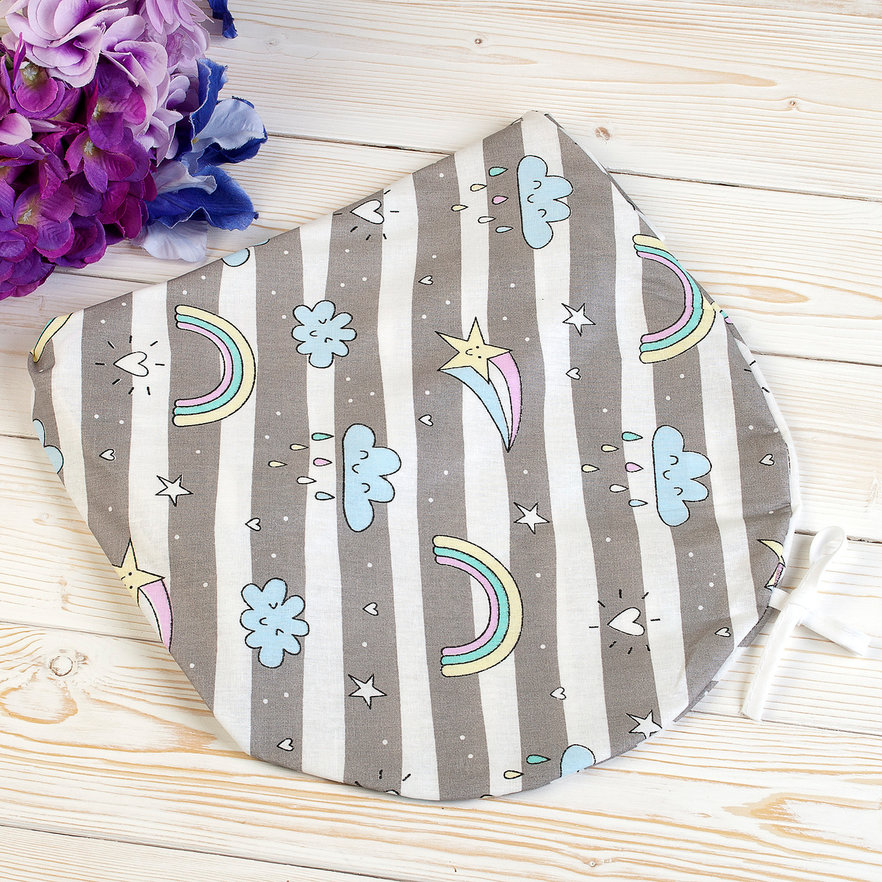 """фото наволочки к подушке для беременных AmaroBaby 170х25 в цвете """"Радуга"""""""