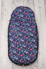 фото мехового конверта AmaroBaby LITTLE TRAVELER 105х45 ОБЛАКА