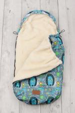 фото конверта мехового универсального AmaroBaby LITTLE TRAVELER 105х45 ЕЖИКИ