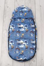 фото мехового конверта AmaroBaby LITTLE TRAVELER 105х45 МИШКА