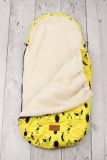 фото конверта мехового универсального AmaroBaby LITTLE TRAVELER 105х45 ПИНГВИНЫ