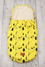 Конверт меховой универсальный AmaroBaby LITTLE TRAVELER 105х45 Пингвины
