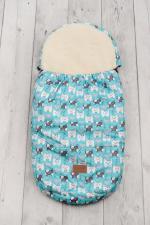 Конверт меховой универсальный AmaroBaby LITTLE TRAVELER 105х45 Собачки (голубой)