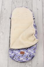фото конверта мехового универсального AmaroBaby LITTLE TRAVELER 105х45 СОБАЧКИ (сирень)