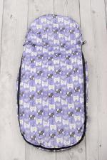 фото мехового конверта AmaroBaby LITTLE TRAVELER 105х45 СОБАЧКИ (сирень)