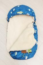 фото мехового конверта AmaroBaby LITTLE FRIEND 80х45 КОТ И МЫШКИ
