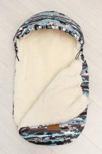 фото мехового конверта AmaroBaby LITTLE FRIEND 80х45 МИЛИТАРИ