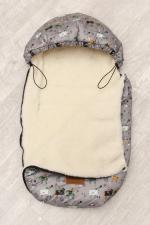 фото конверта мехового универсального AmaroBaby LITTLE FRIEND 80х45 РЫЦАРЬ