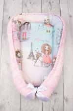 фото подушки-позиционера для сна AmaroBaby кокон-гнездышко, PRESTIGE BABY в цвете Little crystal