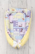 фото подушки-позиционера для сна AmaroBaby кокон-гнездышко, LITTLE BABY в цвете Сонное царство