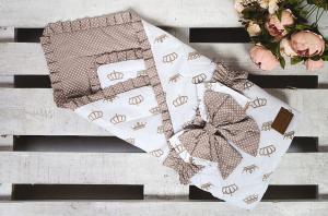 Одеяло на выписку AmaroBaby HAPPY (Royal коричневый)