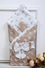 фото одеяла на выписку AmaroBaby HAPPY в цвете Короны коричневый