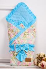 фото одеяла на выписку AmaroBaby HAPPY в цвете Сказка бирюзовый