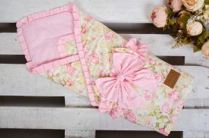 Одеяло на выписку AmaroBaby HAPPY (Сказка розовый)