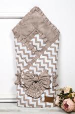фото одеяла на выписку AmaroBaby Zig Zag в цвете Кофе