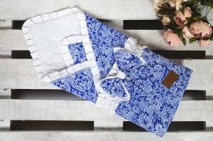 Одеяло на выписку AmaroBaby ЭЛИТ синий