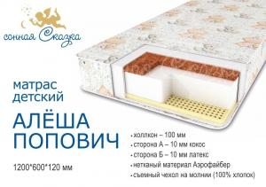"фото матраса ""Алеша Попович эконом"" 1200х600"