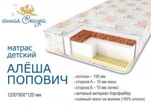 "фото матраса ""Алеша Попович стандарт"" 1200х600"
