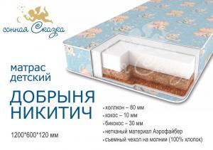 """фото матраса """"Добрыня Никитич эконом"""" 1200х600"""