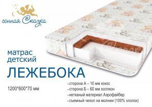 "фото матраса ""Лежебока люкс""  1200х600"