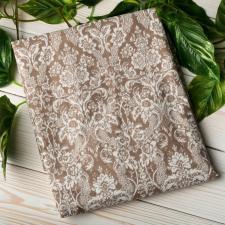 "фото простыни AmaroBaby на резинке 125х75х12 бязь в цвете ""Дамаск кофе"""