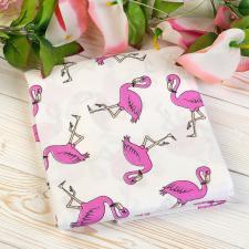 """фото простыни AmaroBaby на резинке 125х75х12 поплин в цвете """"Фламинго"""""""