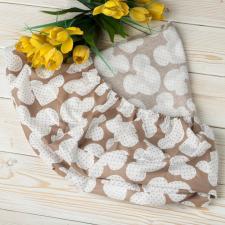 """фото простыни AmaroBaby на резинке круглая 75х75х12 бязь в цвете """"Мышонок кофе"""""""