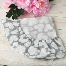 "фото простыни AmaroBaby на резинке круглая 75х75х12 бязь в цвете ""Мышонок серый"""